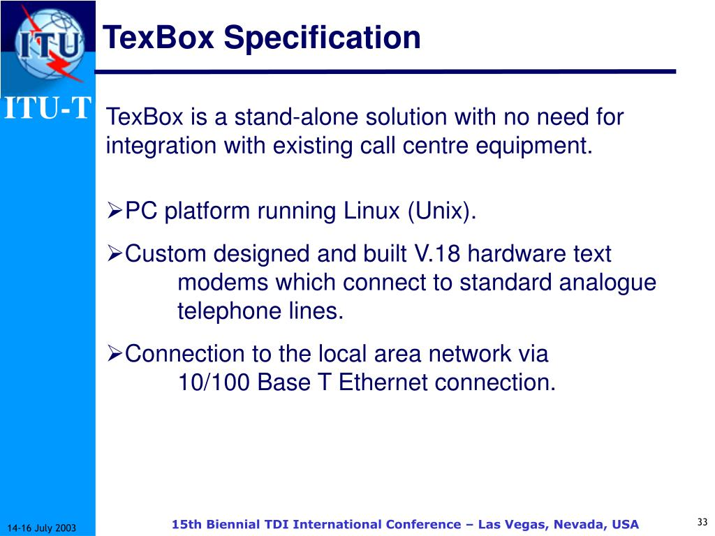 TexBox Specification
