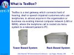 what is texbox