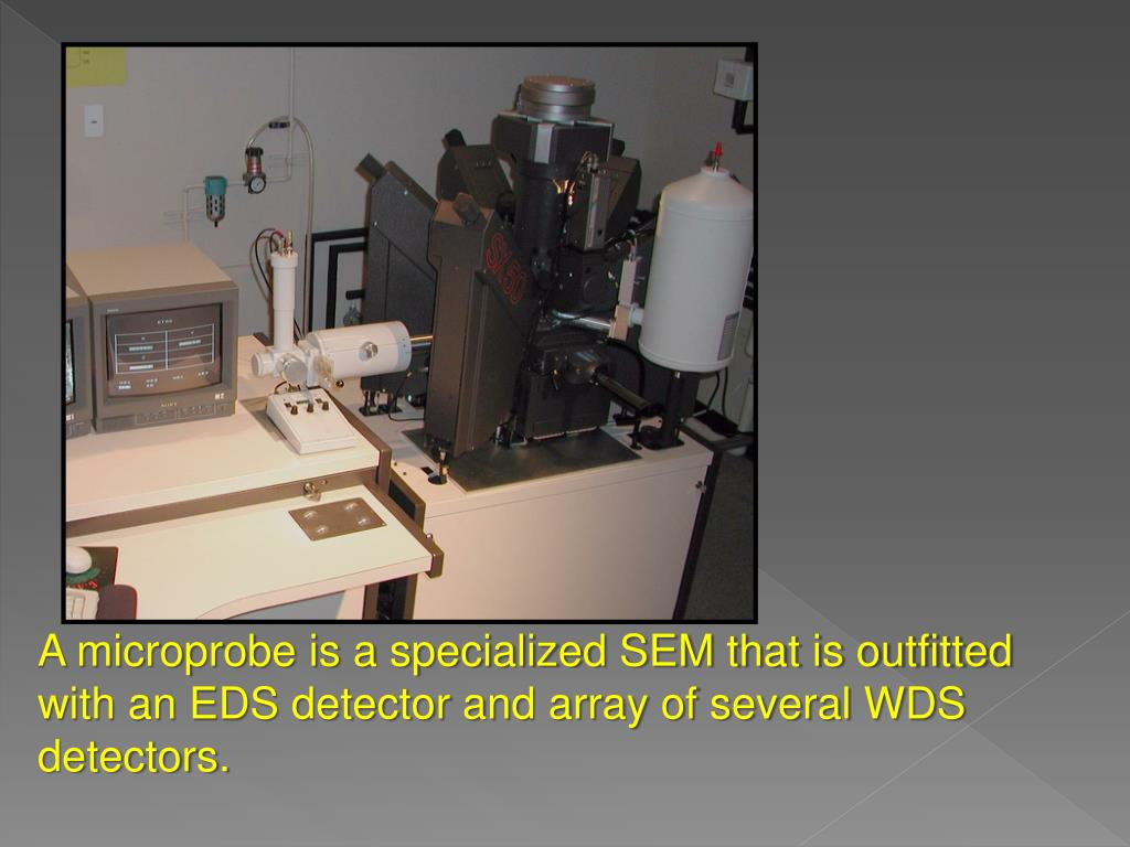 A microprobe is a specialized SEM that is outfitted with an EDS detector and array of several WDS detectors.