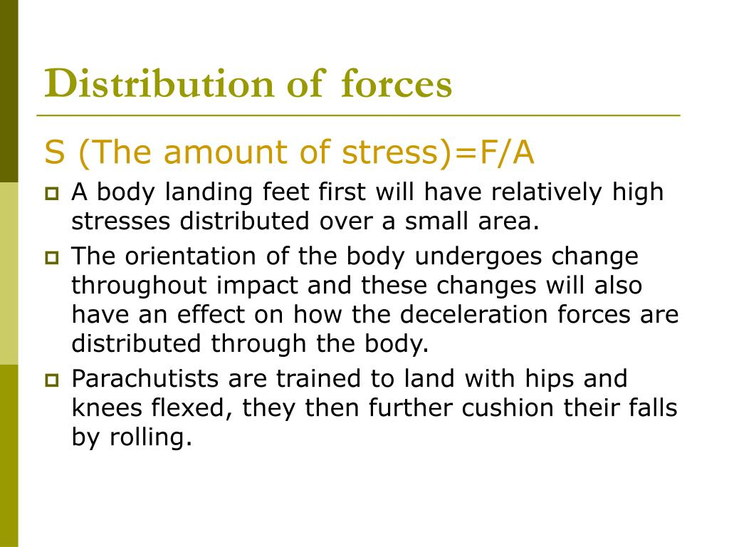 Distribution of forces