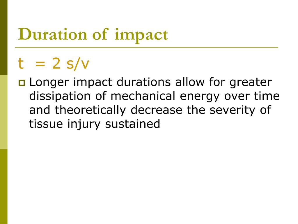 Duration of impact