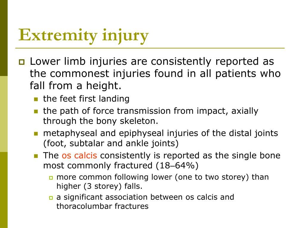 Extremity injury