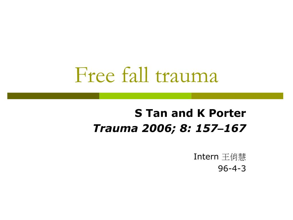 Free fall trauma