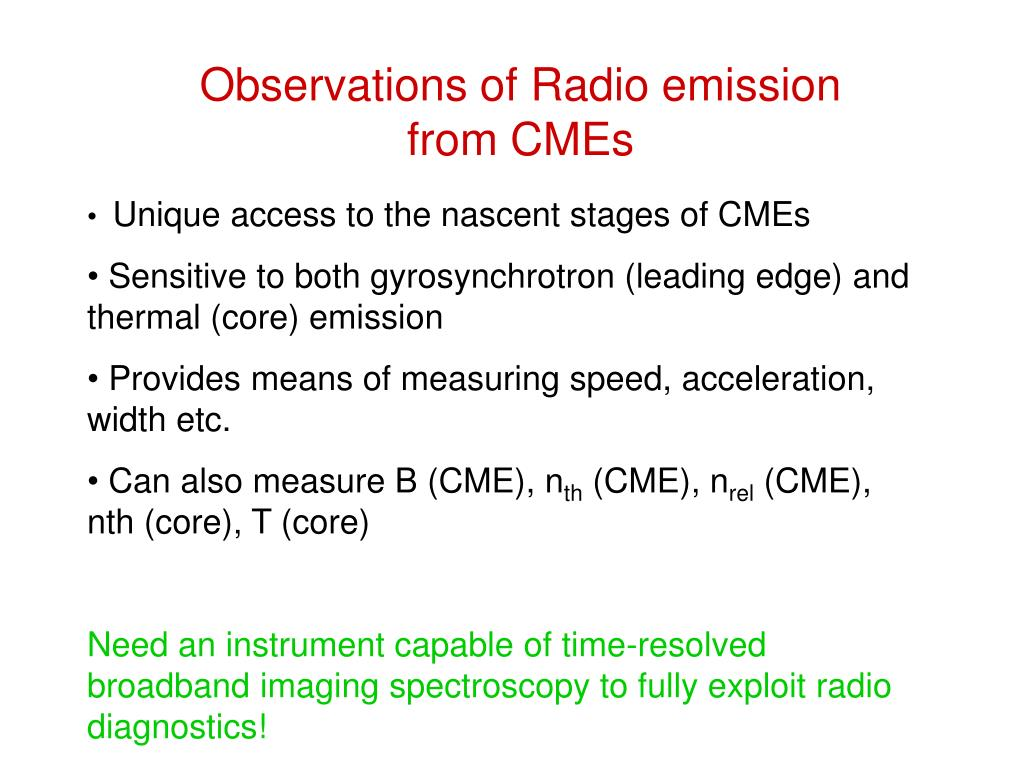Observations of Radio emission from CMEs
