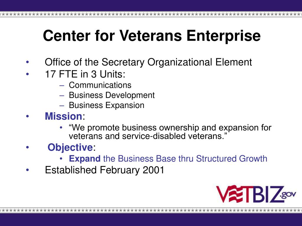 Center for Veterans Enterprise