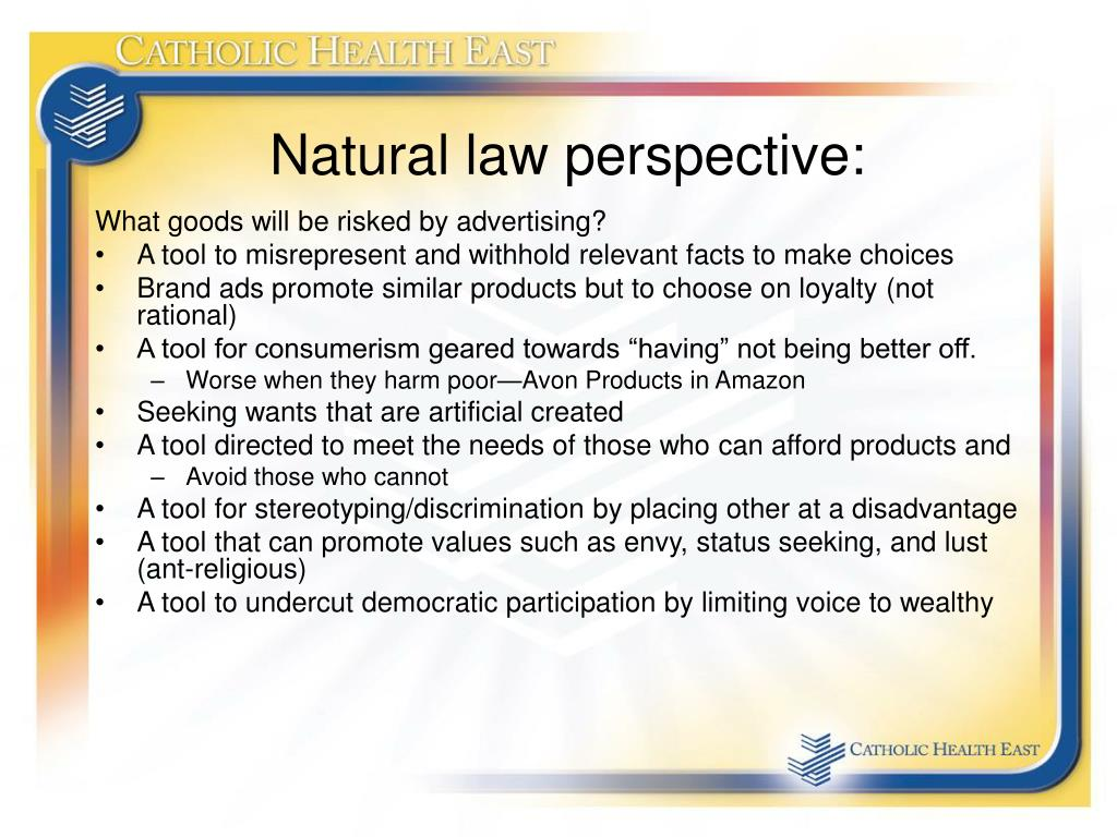 Natural law perspective: