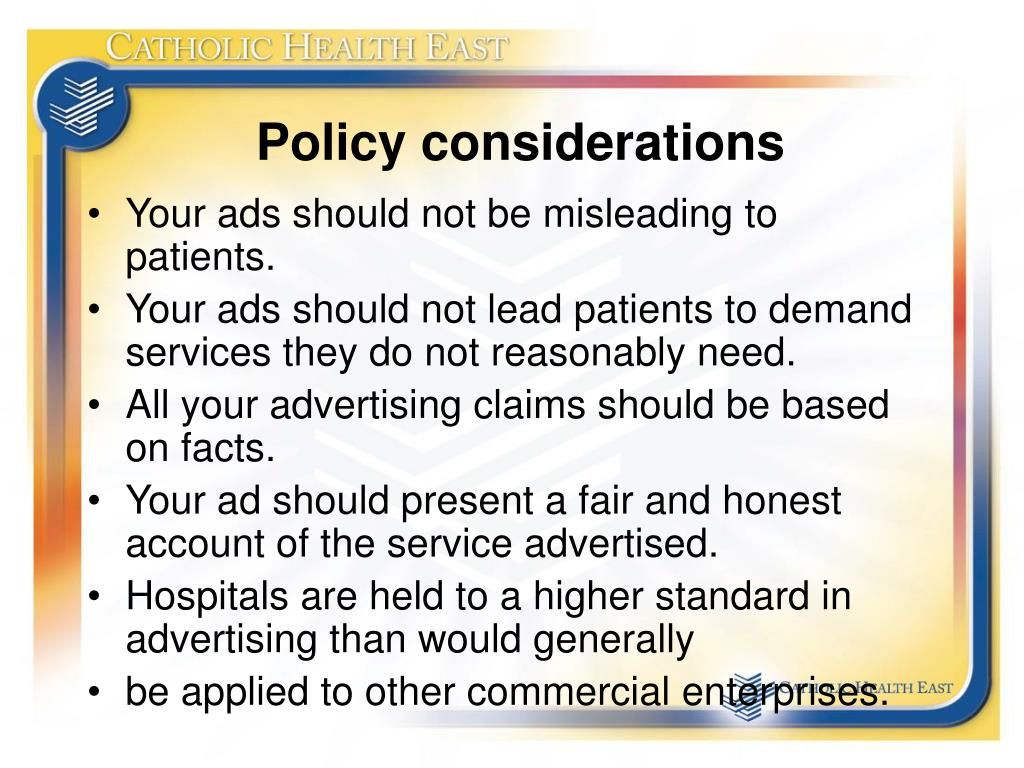 Policy considerations