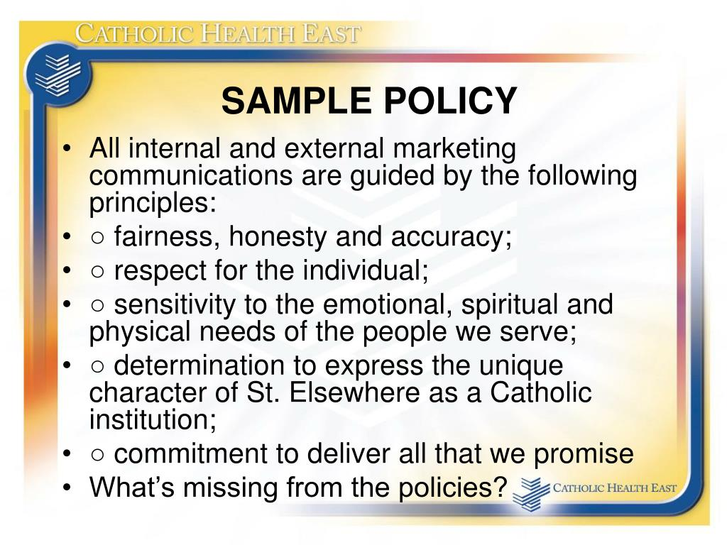 SAMPLE POLICY