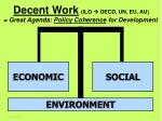 decent work ilo oecd un eu au great agenda policy coherence for development