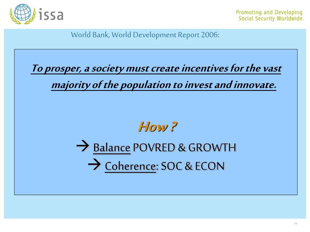 World Bank, World Development Report 2006: