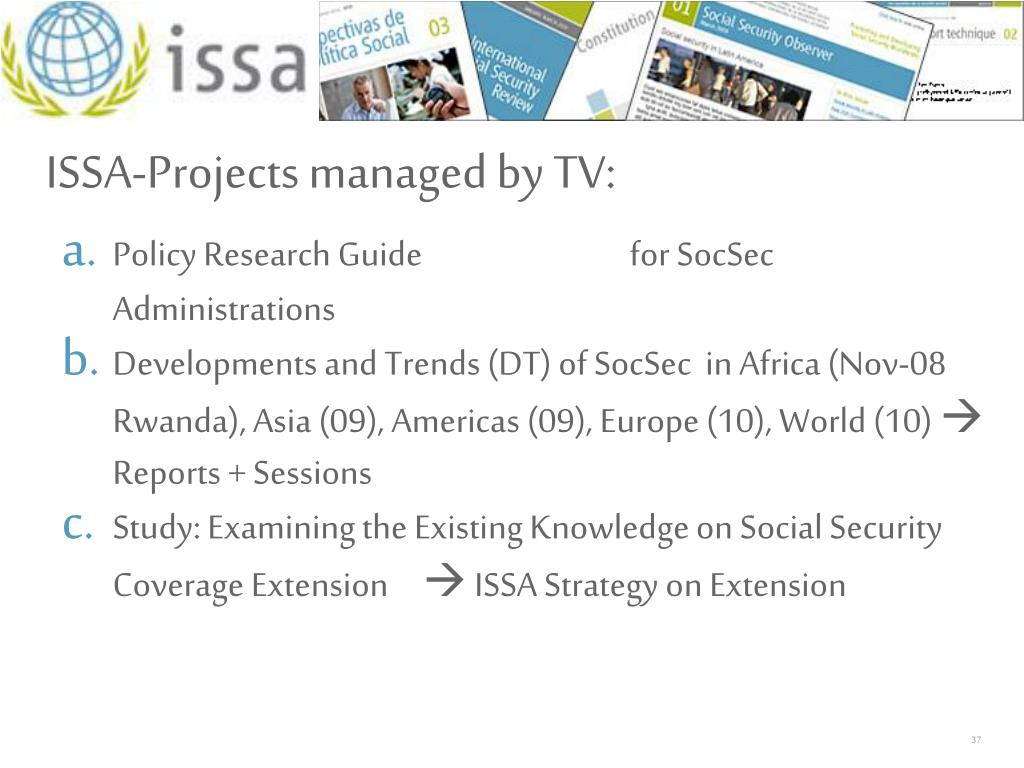 ISSA-Projects managed by TV: