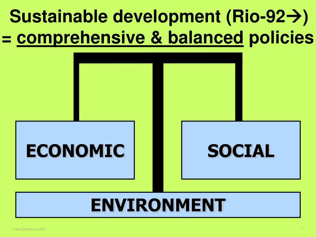 Sustainable development (Rio-92)