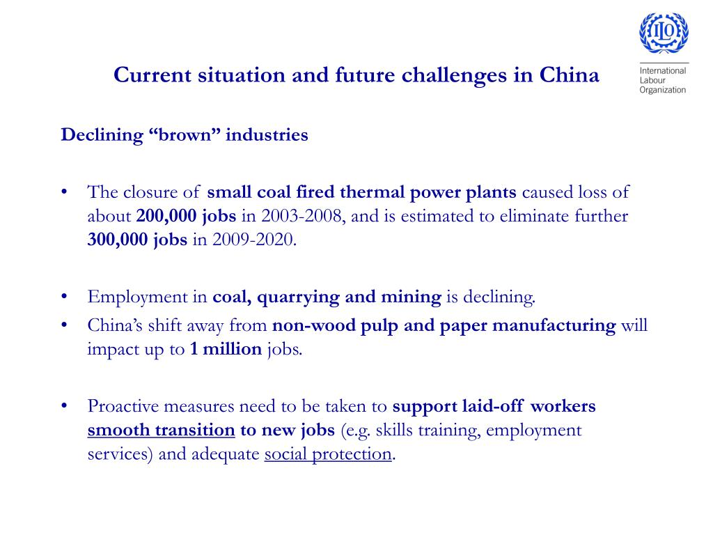 Current situation and future challenges in China