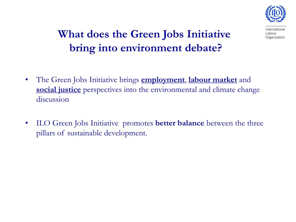 What does the Green Jobs Initiative