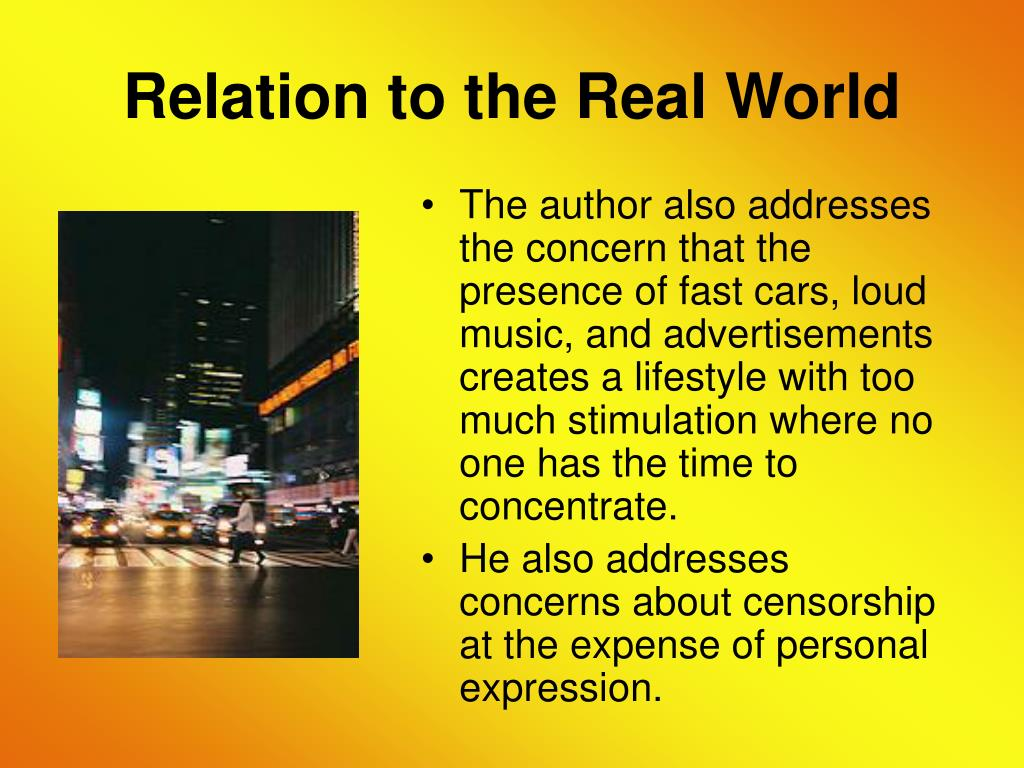 Relation to the Real World