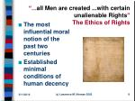 all men are created with certain unalienable rights the ethics of rights