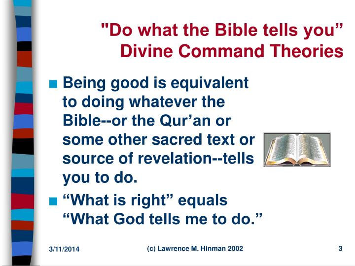 Do what the bible tells you divine command theories l.jpg