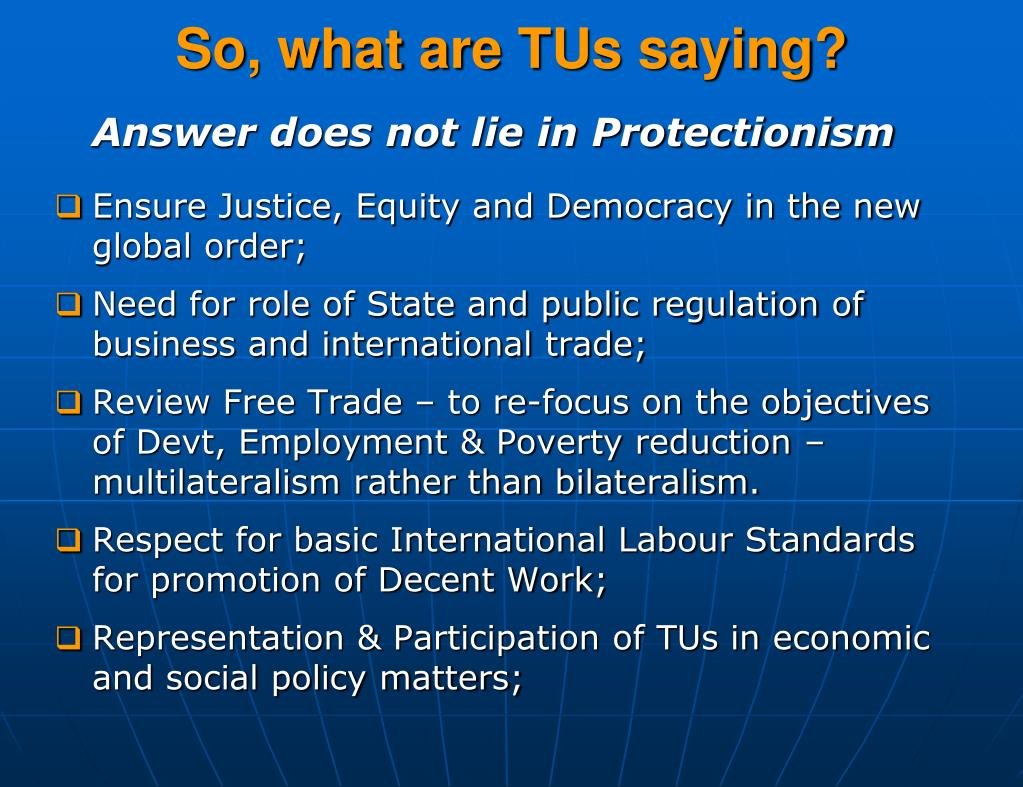 So, what are TUs saying?