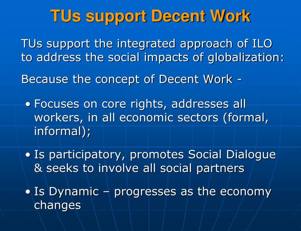 TUs support Decent Work