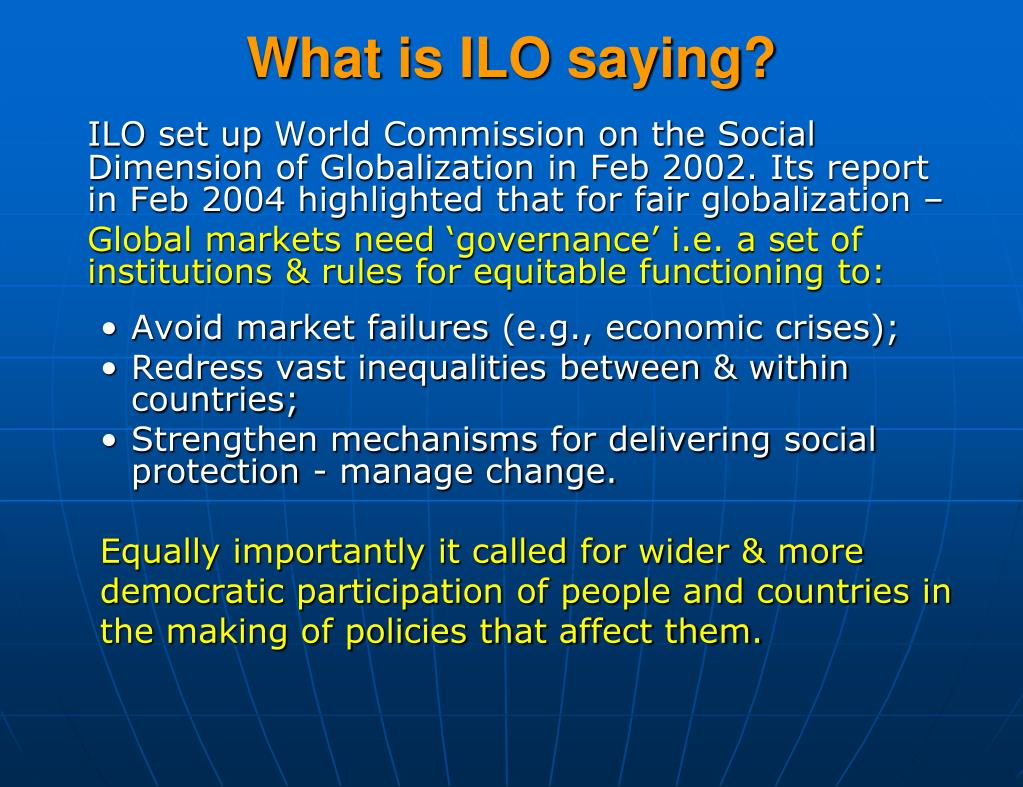 What is ILO saying?