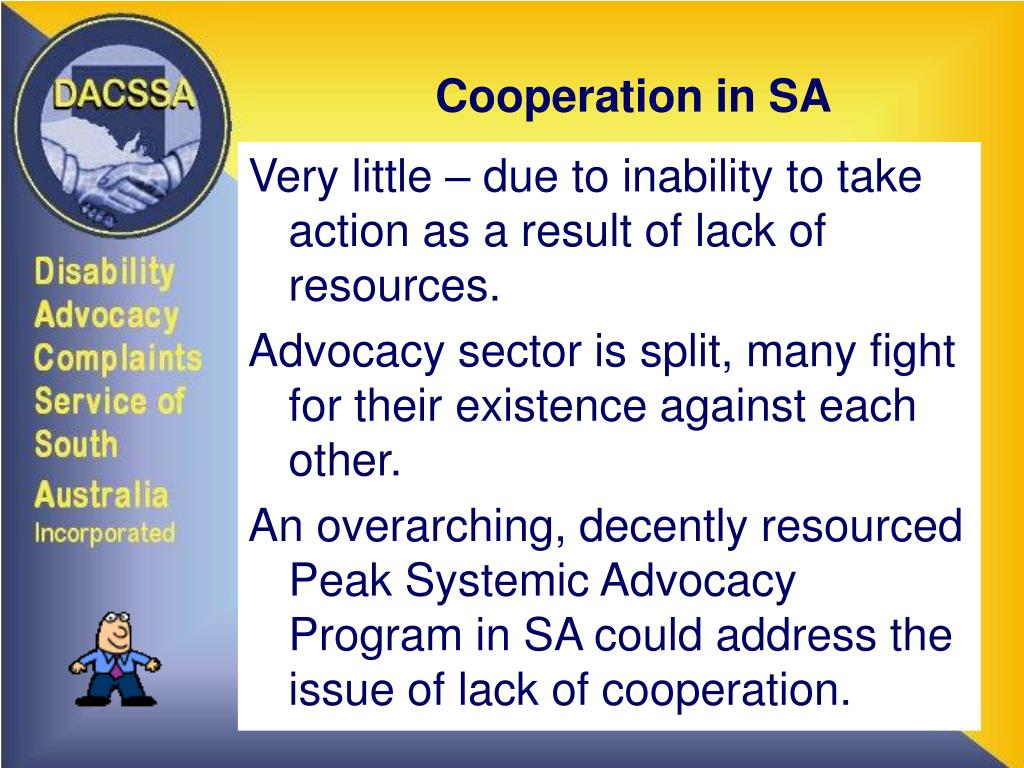 Cooperation in SA