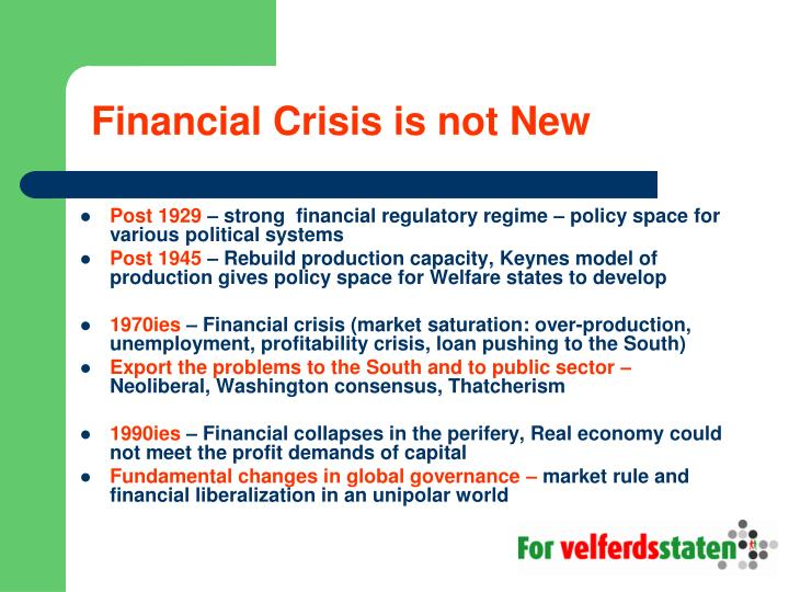 Financial crisis is not new