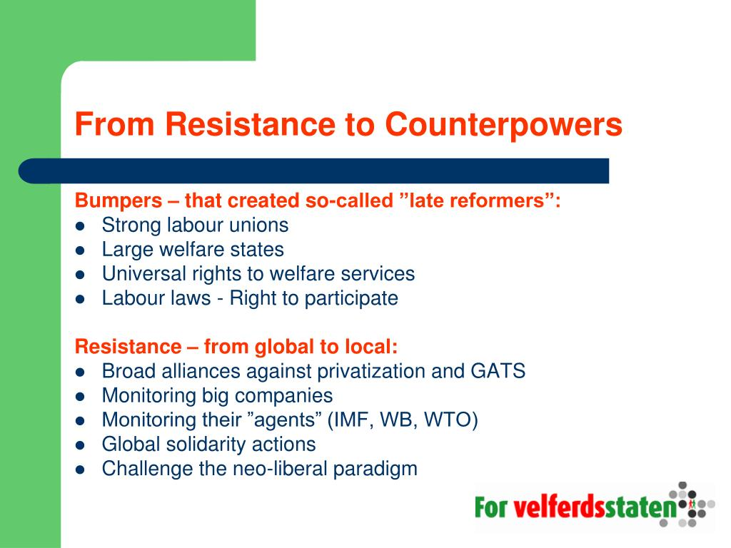 From Resistance to Counterpowers