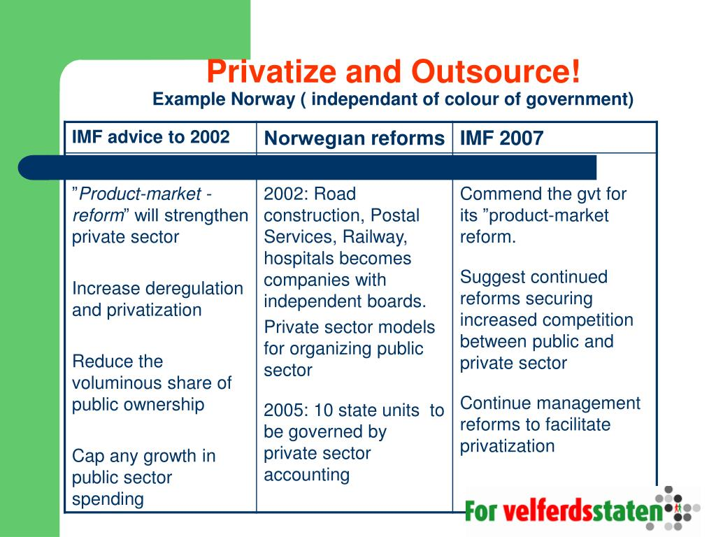 Privatize and Outsource!