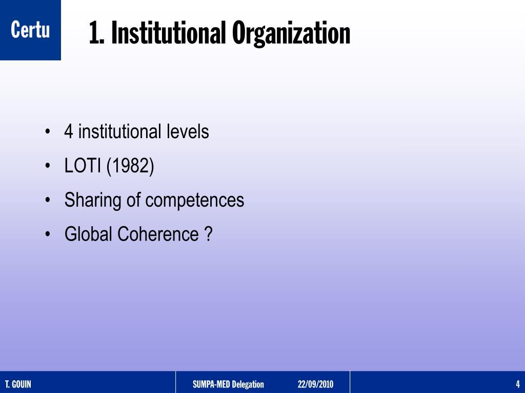 4 institutional levels