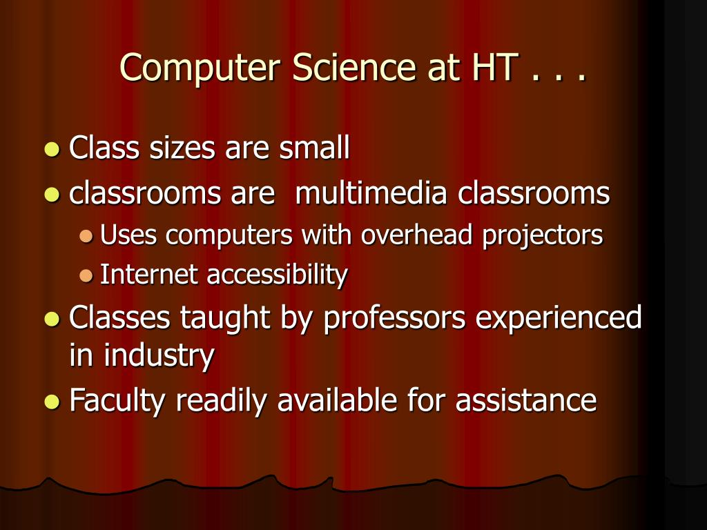 Computer Science at HT . . .