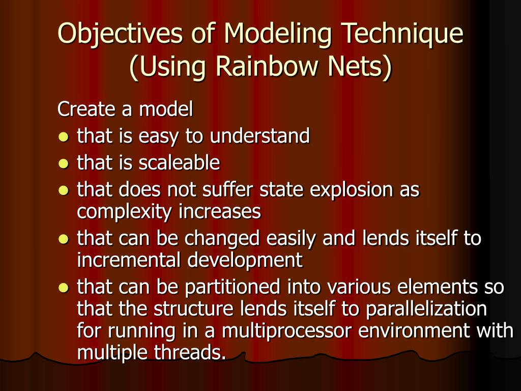 Objectives of Modeling Technique