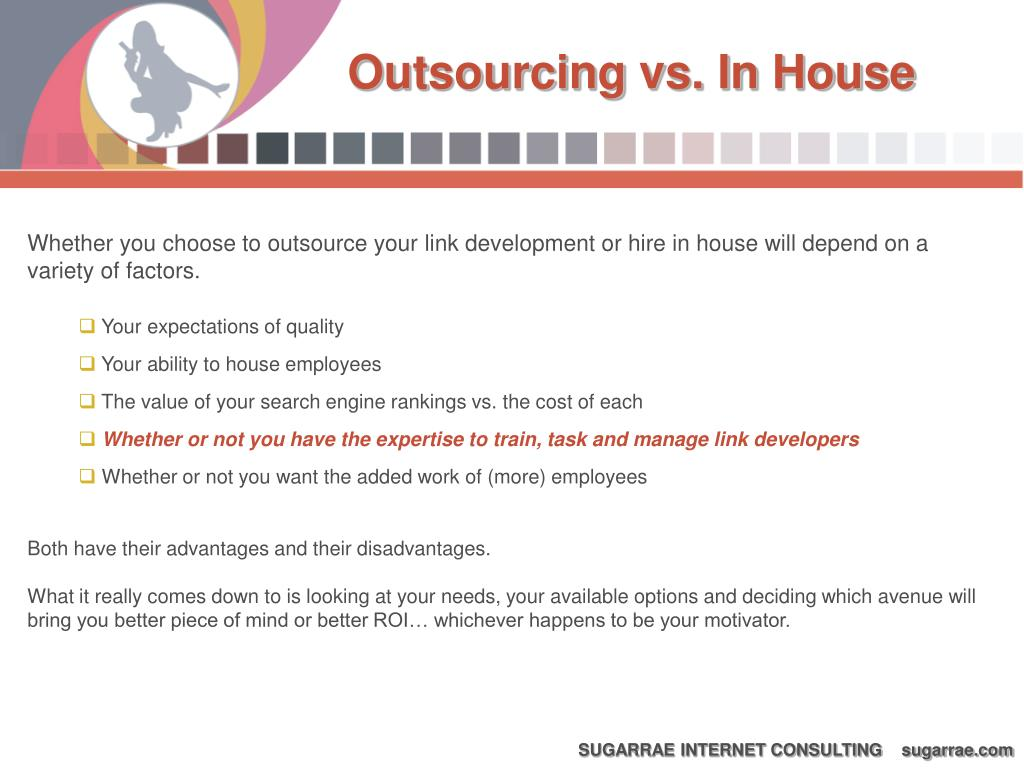Outsourcing vs. In House