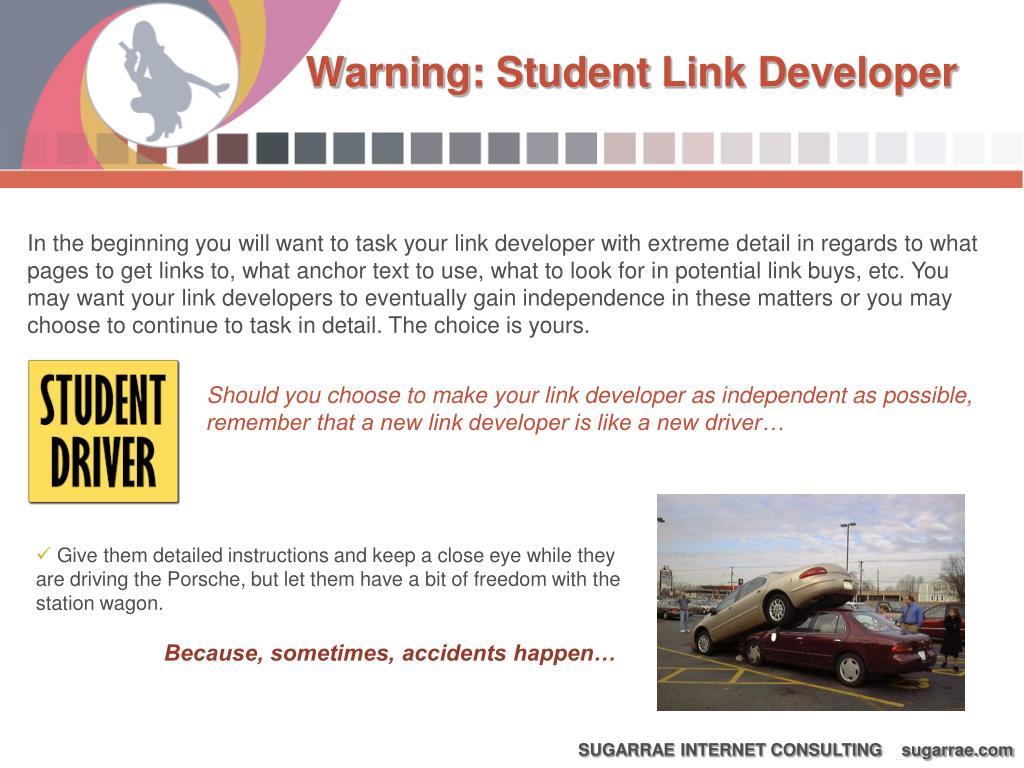 Warning: Student Link Developer