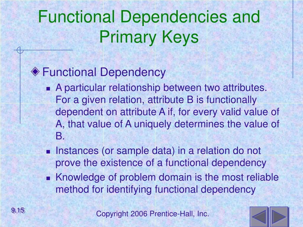 Functional Dependencies and Primary Keys