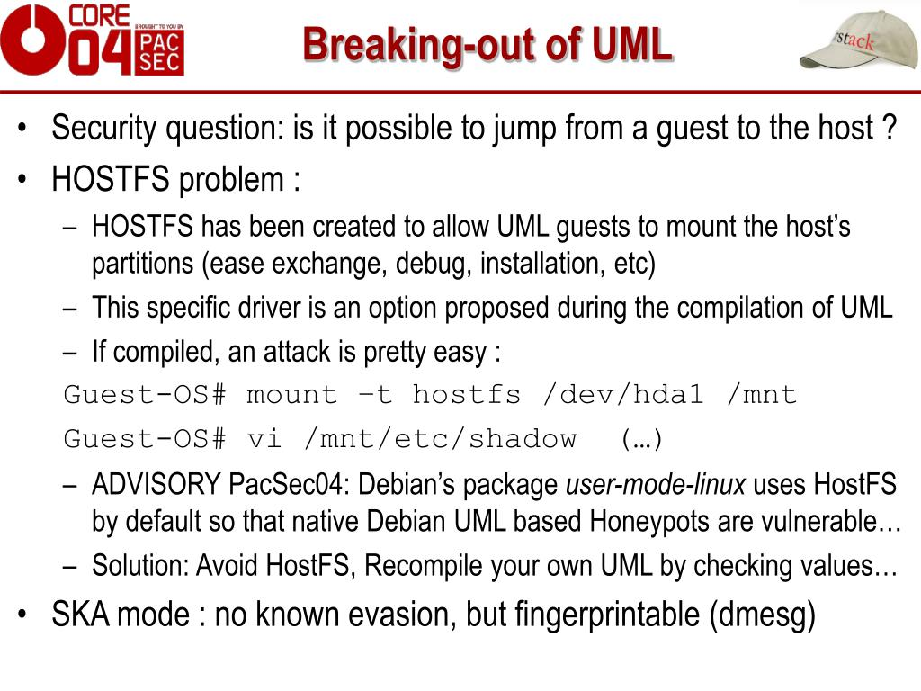 Breaking-out of UML