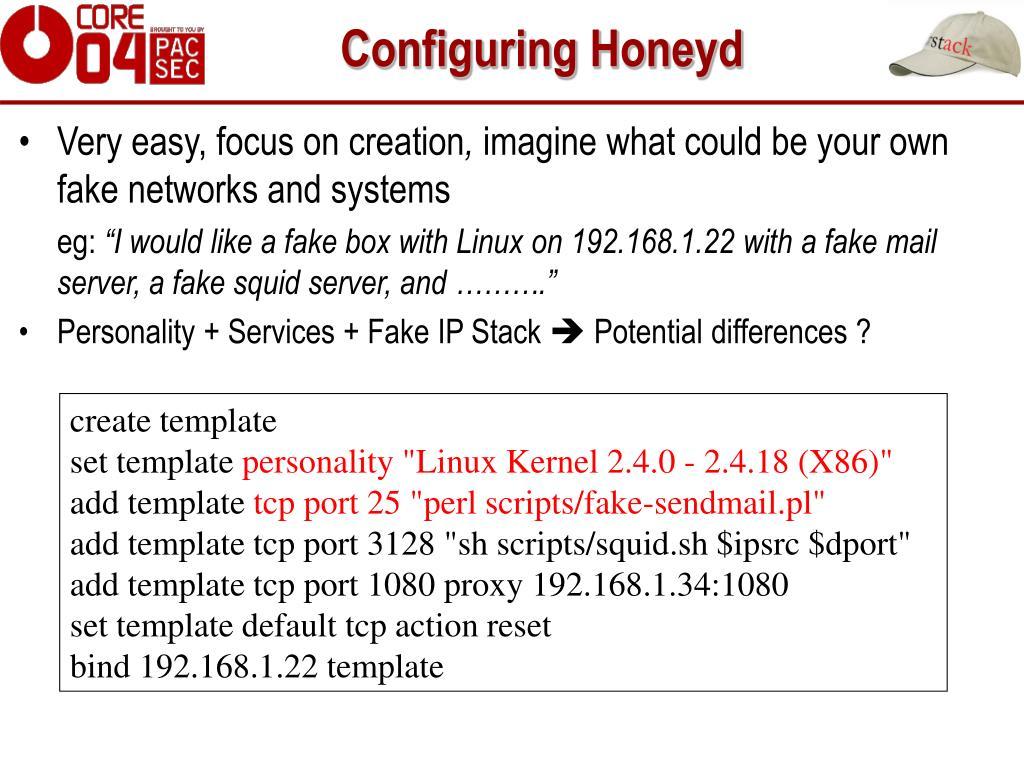 Configuring Honeyd