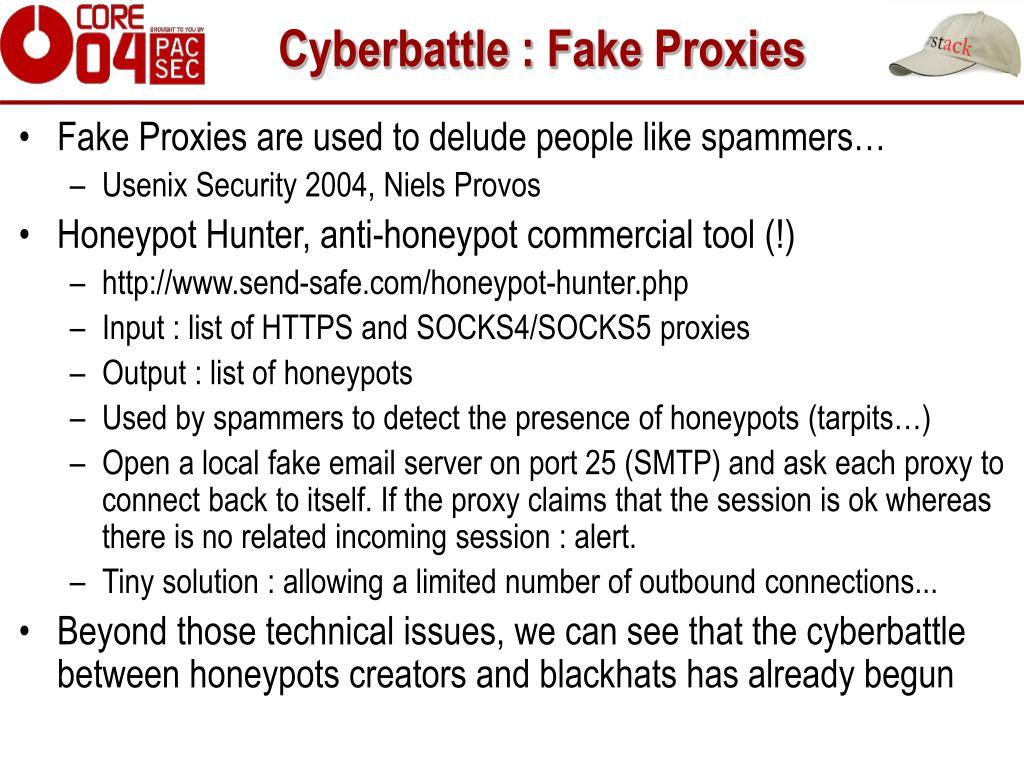 Cyberbattle : Fake Proxies