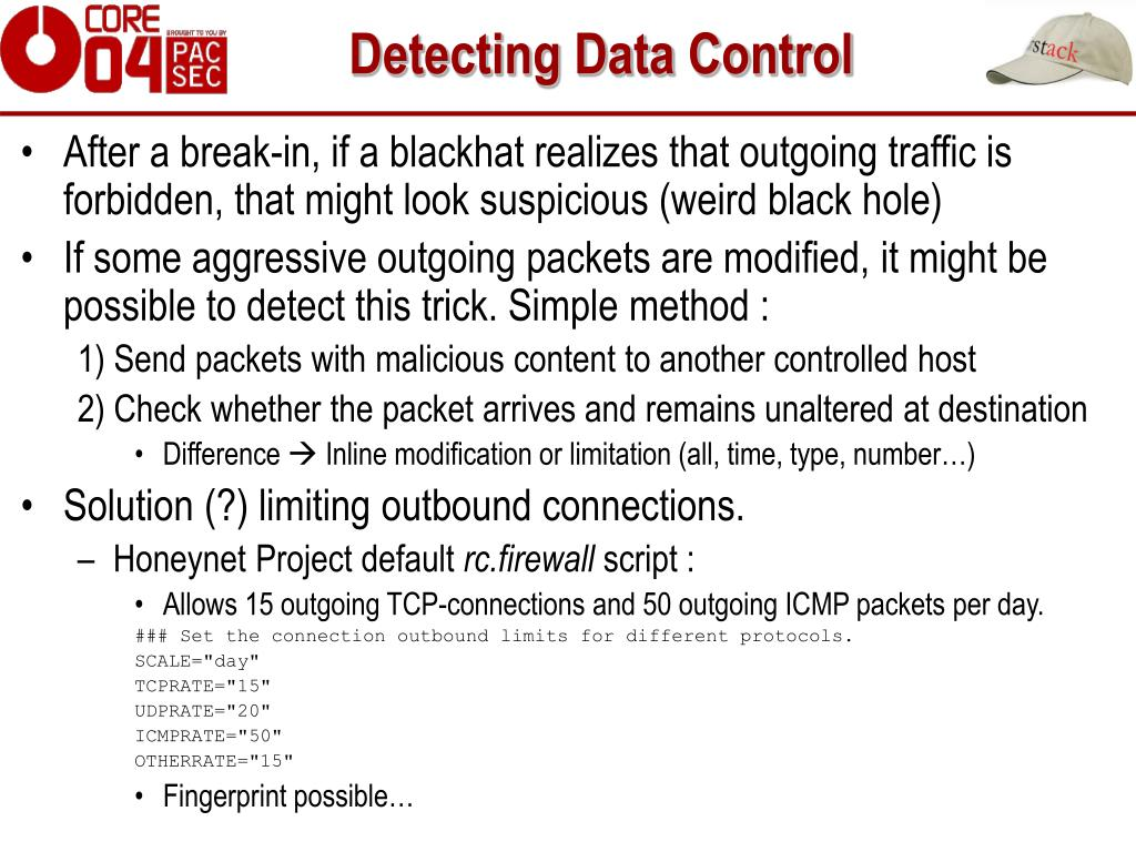 Detecting Data Control