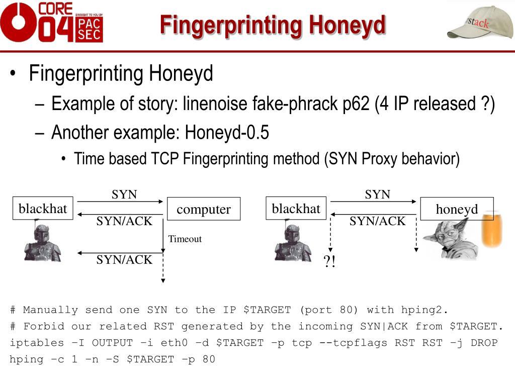 Fingerprinting Honeyd
