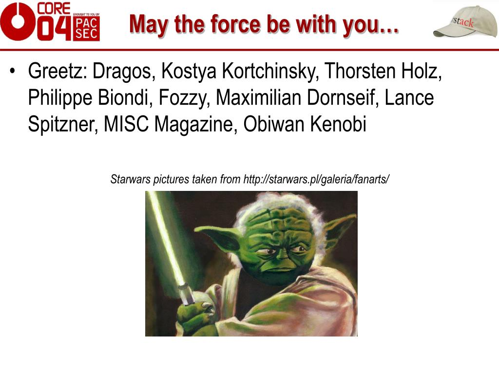 May the force be with you…