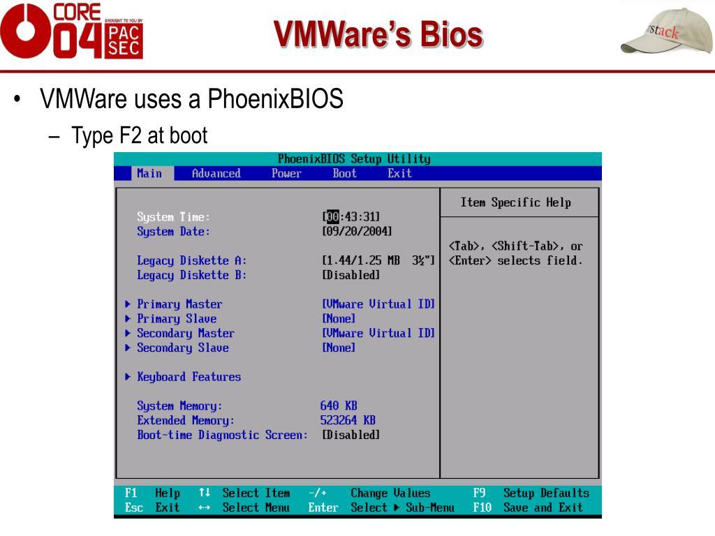 VMWare's Bios