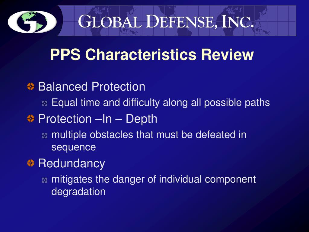 PPS Characteristics Review