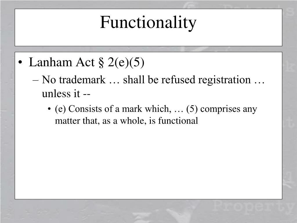 Lanham Act § 2(e)(5)
