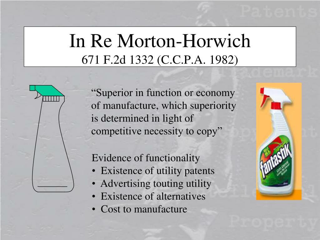 In Re Morton-Horwich
