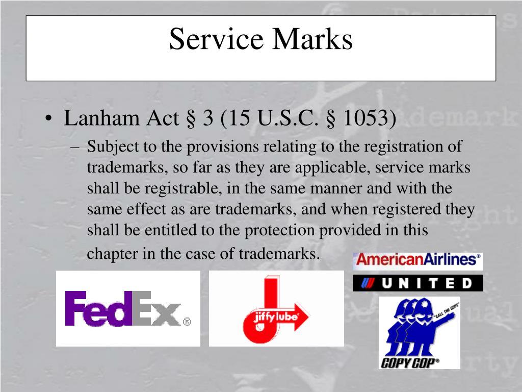Lanham Act § 3 (15 U.S.C. § 1053)