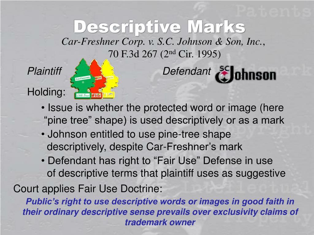Descriptive Marks