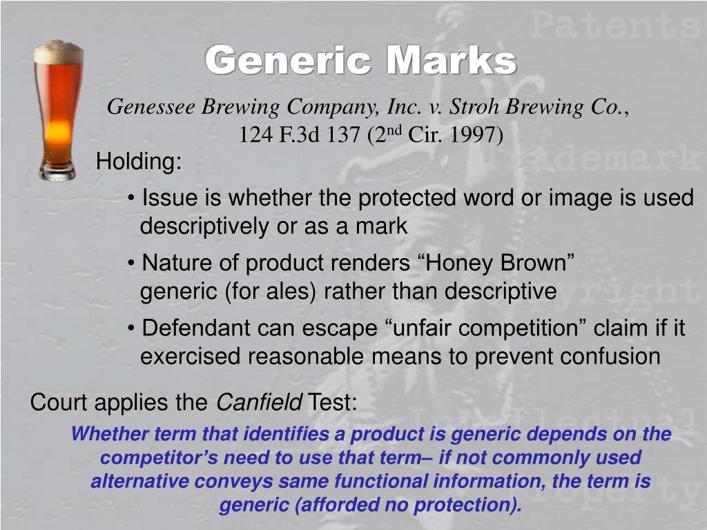 Generic Marks