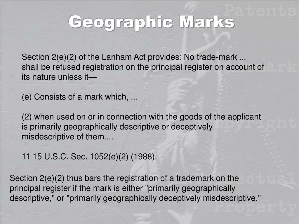 Geographic Marks