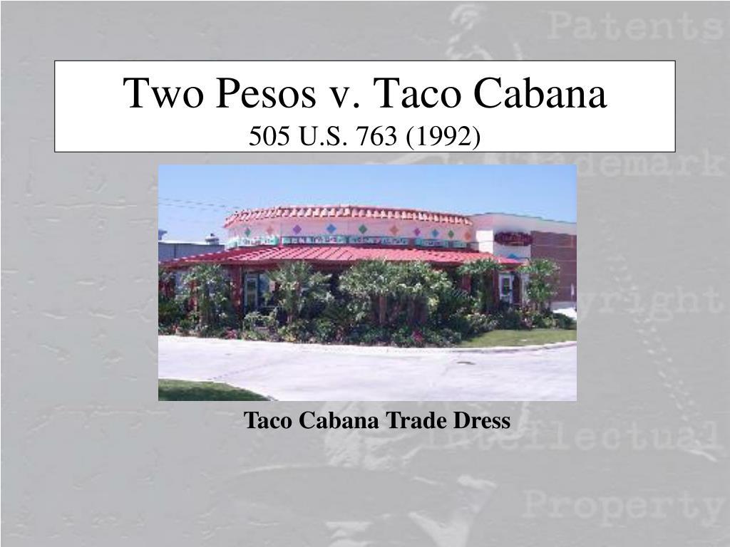 Two Pesos v. Taco Cabana