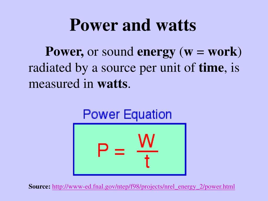 Power and watts